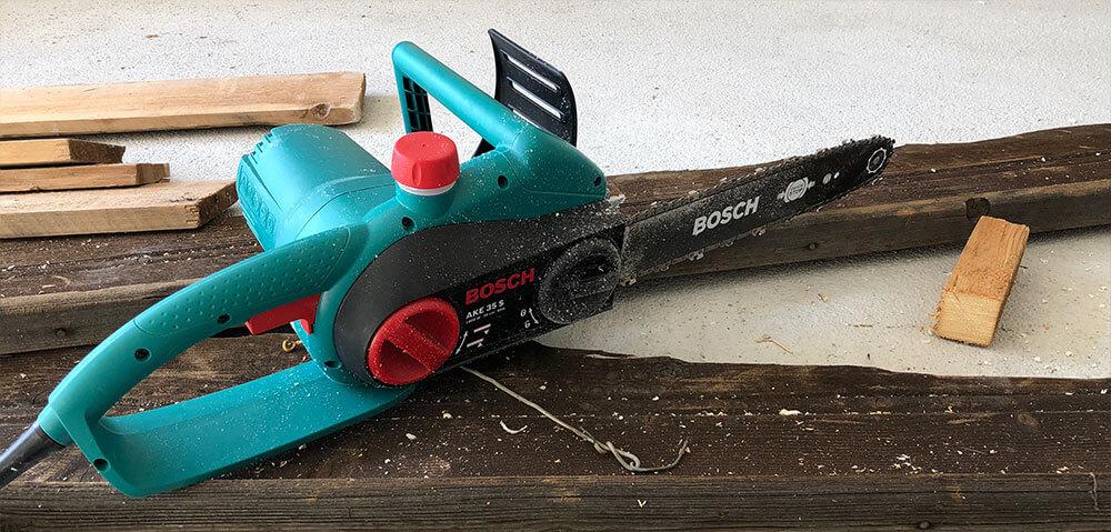 Gut bekannt Bosch DIY Kettensäge AKE 35 S Test und Erfahrungen SZ66