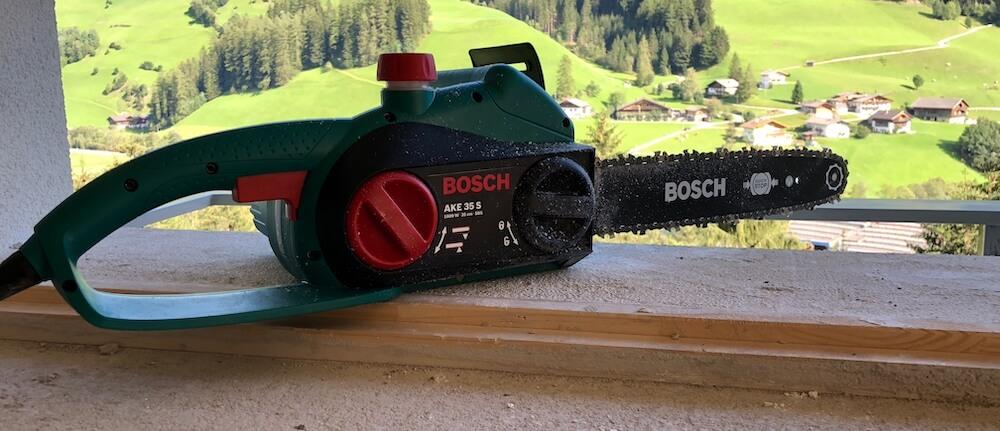 Bosch DIY Kettensäge AKE35S Testbericht